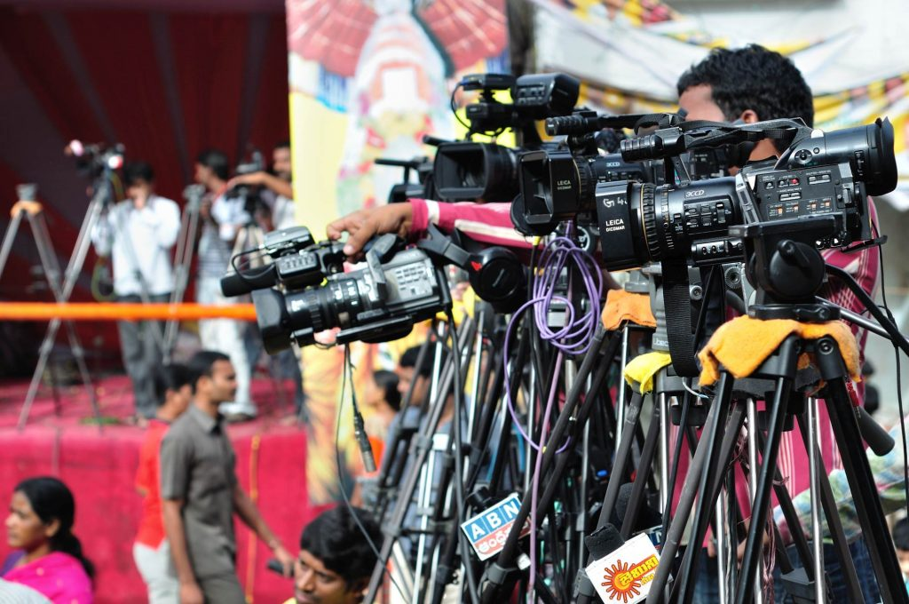Reporters and camera-men from local TV channels are capturing the festive mood for telecasting in their news channels.