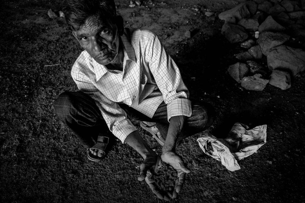 In search of soil inside the Bidar fort