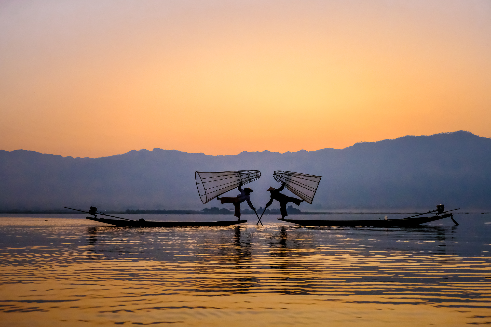 Morning Fishing at Inle Lake, Myanmar