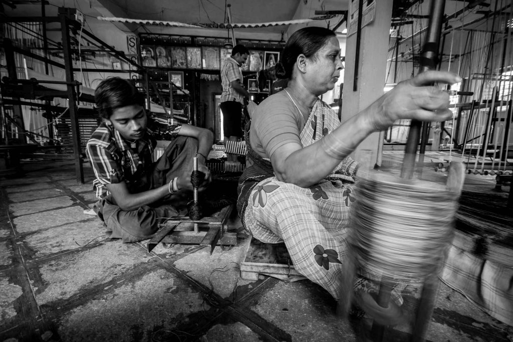 Workers are busy in different works in the factory