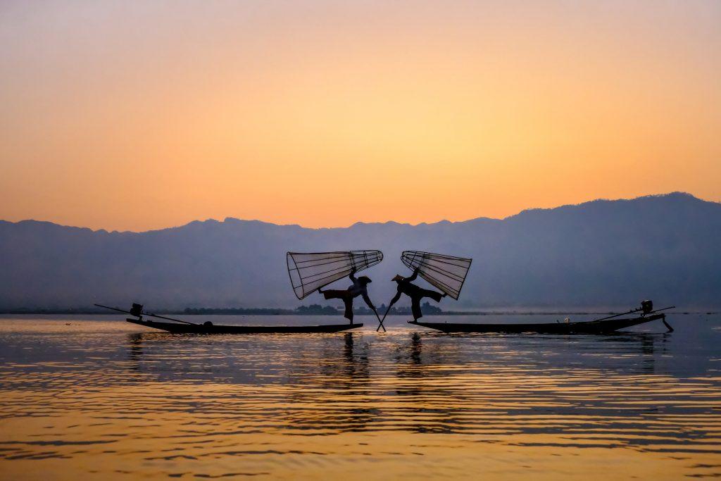 Fishing at Inle, Myanmar